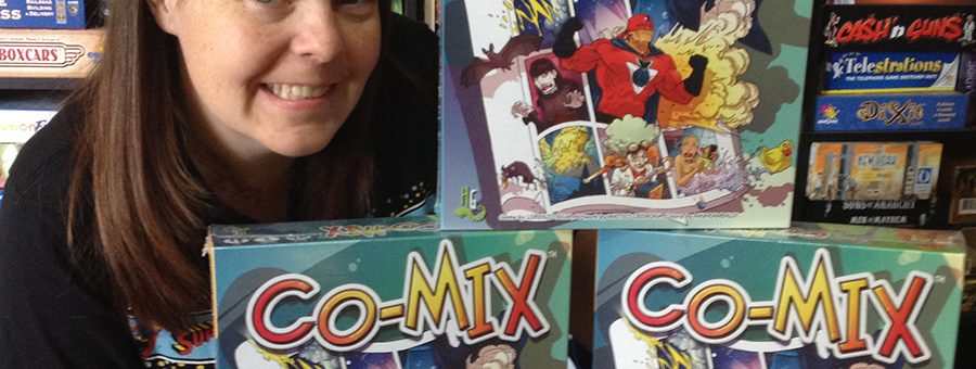 Molly with three copies of Co-Mix