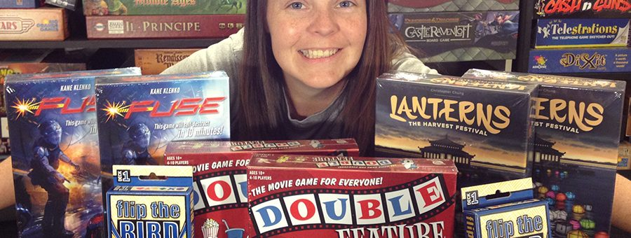 Molly with Renegade Game Studios donations