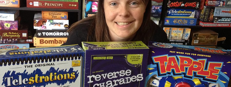 Molly with USAopoly donations