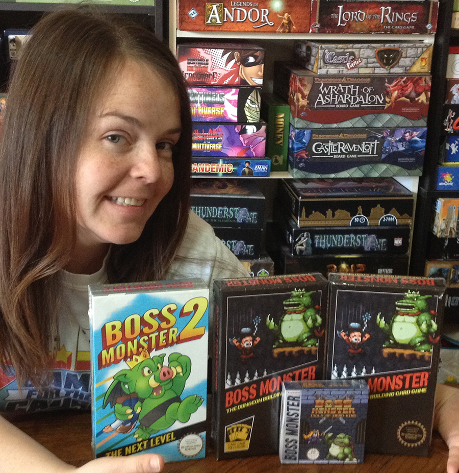 Molly with Boss Monster games