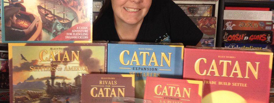 Molly with Catan Studio donation