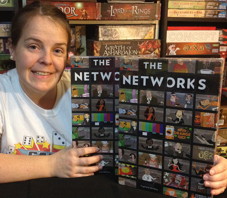 Molly with two copies of The Networks
