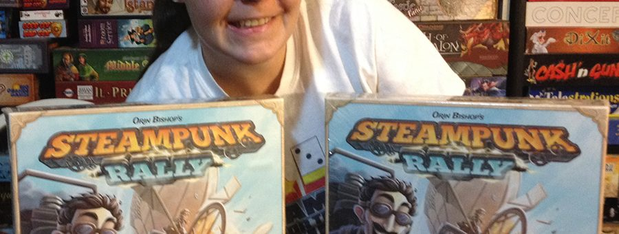 Molly with two copies of Steampunk Rally
