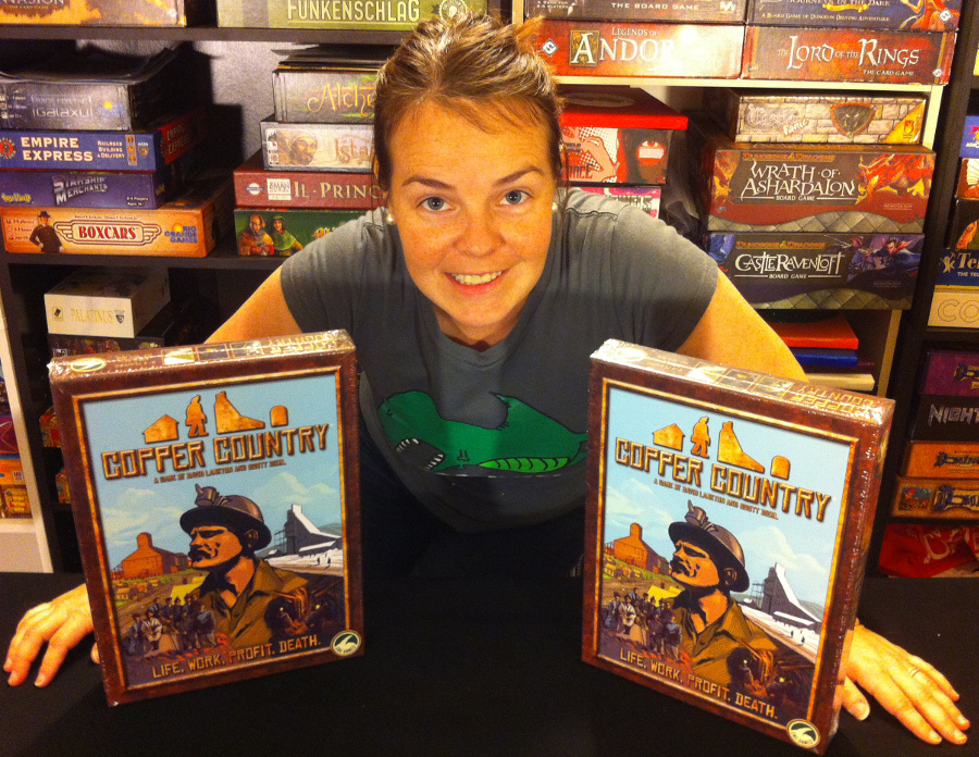 Molly with CMX Games donations