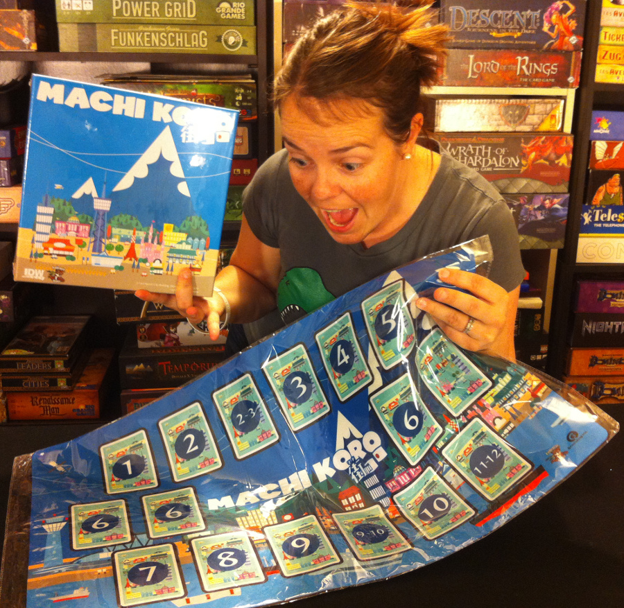 Molly with IDW Games donations