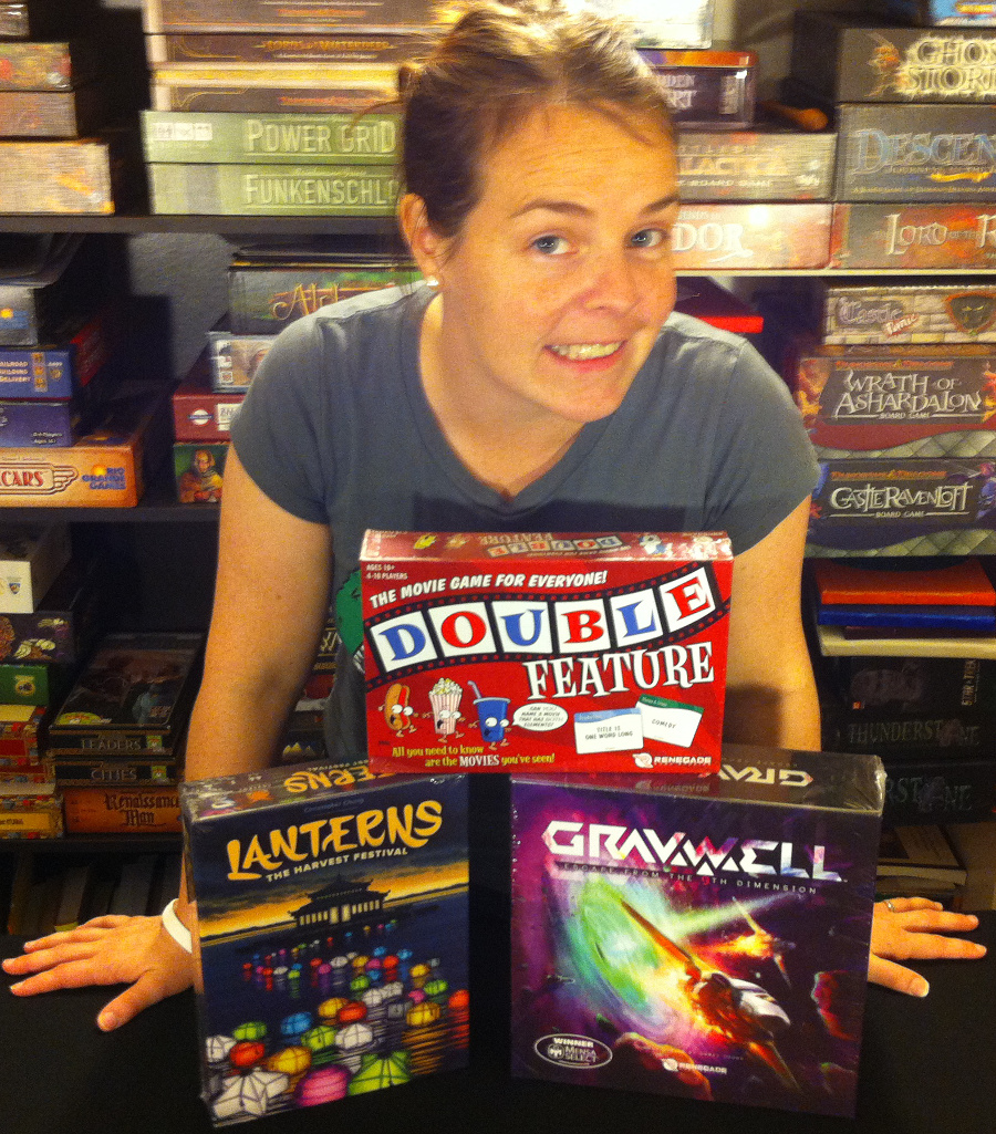 Molly with Renegade Games donations