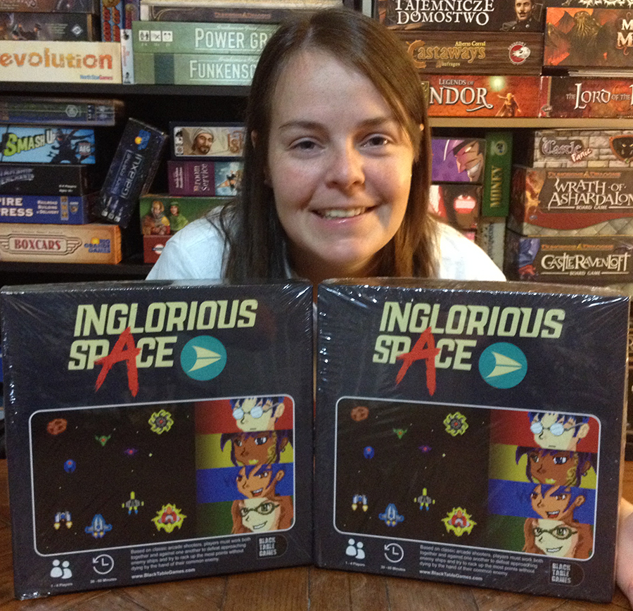 Molly with Black Table Games donations
