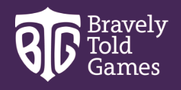 Bravely told games logo